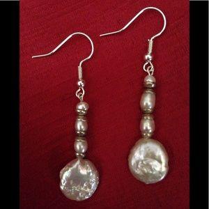 NWT Handmade Earrings with Freshwater Pearls